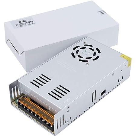 CURE(キュア) 安定化電源 スイッチング電源 AC DC コンバーター 12V 40A 480W 冷却ファン 直流電源変換器 過負荷保護 日本語説明書付 安全保護回路 自動リセット可能 電源装置