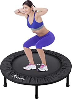 MOVTOTOP Mini Trampoline 38/40 Inch, Folding Indoor Trampolines with Safety Pad, Fun Mini..