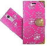 FoneExpert® Lenovo K6 Handy Tasche, Bling Luxus Diamant Wallet Hülle Flip Cover Hüllen Etui Hülle Ledertasche Lederhülle Schutzhülle Für Lenovo K6