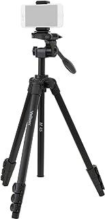 Velbon スマホ三脚 M45スマートフォンセット 4段 レバーロック 全高155cm 脚径20mm 小型 3Way雲台 クイックシュー対応 アルミ脚 500960