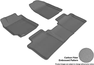 3D MAXpider Complete Set Custom Fit All-Weather Floor Mat for Select Toyota Camry Models - Kagu Rubber (Gray)