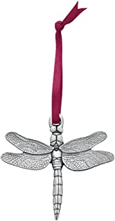 Danforth - Dragonfly Pewter Ornament - Handcrafted - 2 Inches - Satin Ribbon