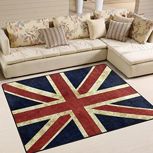 Use7 Teppich mit britischer Flagge, Vintage-Stil, für Wohnzimmer, Schlafzimmer, 160 x 122 cm