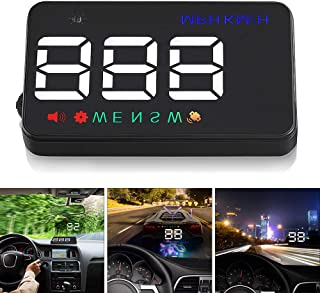 Universal A5 3.5 Inch Car Head Up Display Windshield Projector Speedometer Overspeed Warning GPS Satellite 2 Display Mode