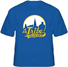 RSHSJCZZY Summer Men's Generic T-Shirt Tee A Tribe Called Quest New York Skyline Rap Round Neck T Shirt S