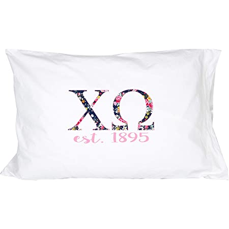 Sigma Alpha Floral Letters Big Little or Custom Pillowcase 300 Thread Count