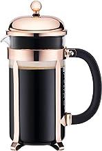 Bodum CHAMBORD Kaffebryggare (fransk-presssystem, ram i rostfritt stål, 1,0 L/34 uns, 8 kopp) – koppar