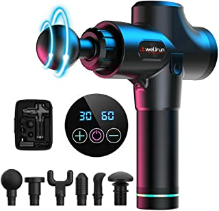 Percussion Massage Gun Deep Tissue Muscle Massager Handheld 30 Speeds Vibration Fascia Tension Relief for Athletes [Upgrade Version]
