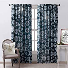 GUUVOR Diamond Wear-Resistant Color Curtain Diamonds Backdrop Carbon Atoms in Cubic Structure Superlative Physical Objects Art Waterproof Fabric W72 x G96 Inch Silver Dark