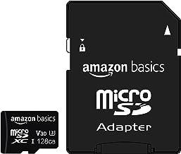 اصول آمازون - کارت حافظه 128 گیگابایتی microSDXC با آداپتور اندازه کامل ، A2 ، U3 ، سرعت خواندن تا 100 مگابایت بر ثانیه