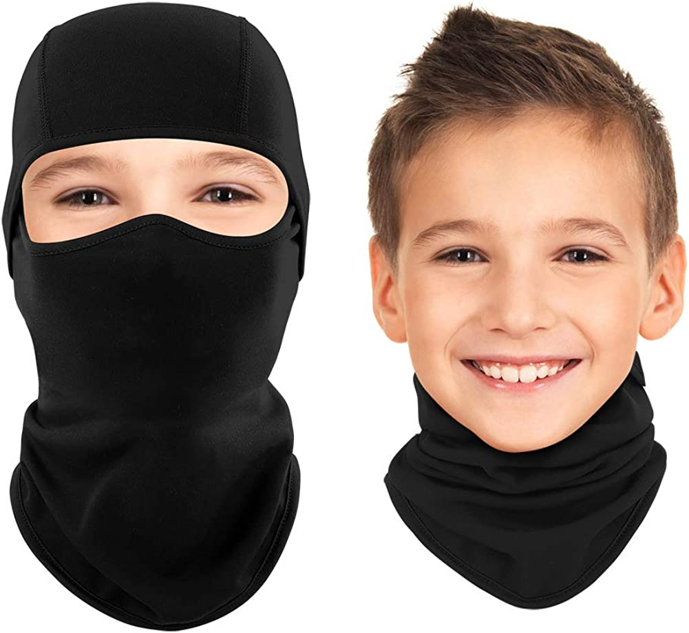 Kids Balaclava Ski Mask Cold Weather Windproof Tactical Face Mask Winter for Skiing Snowboarding Cycling