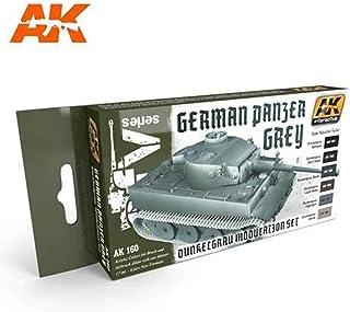 German Panzer Grey Modulation Acrylic Paint (6 Colors) 17ml Bottles AK Interactive