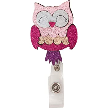Id Badge Holder 3D Rubber cute Owl