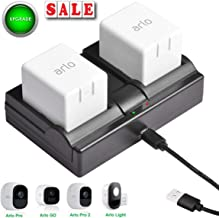 Charging Station for Arlo Charger for Arlo Batteries for Arlo Pro Smart Home Cameras & Arlo Pro 2 & Arlo Go & Arlo Security Light VMA4410 VMA4400C VMA4400 ALS1101 Fireproof Material Charging - 2 Ports