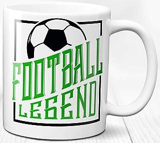 Taza de café de la leyenda del fútbol 330 ml Regalo Taza de cerámica del regalo del héroe del jugador de fútbol