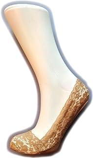 Silky, Calcetines invisibles de encaje para mujer (1 par)