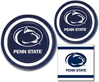 Penn State Nittany Lions Party Supplies Themed Paper Plates and Napkins Serves 10 Guests