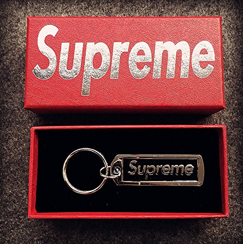 Supreme Keyring Schlüsselanhänger Sup Anhänger Zubehör Rucksack Schmuck Schlüsselanhänger Schlüsselanhänger Supreme Key Ring (BLACK)