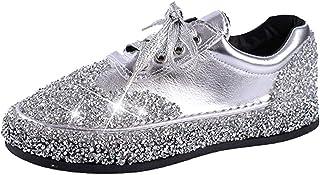 Chaussures Mocassins Cuir Loafers,Chaussures Paillette Plates Femme éTé Confort Respirantes LéGer Mode Tendance Pas Cher S...
