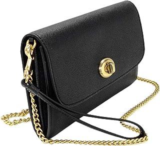 Coach New York Turnlock Chain Wristlet Black Leather Crossbody Bag F333390