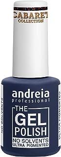 Andreia Professional - The Gel Polish - Esmalte de Uñas en Gel sin Disolventes ni Olores - Color CC3 Negra Brillantina