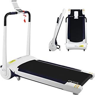 OVICX Home Treadmill 1.6HP Electric Running Exercise Machine Manual Incline 120KG Capacity Fully Foldable Cardio Fitness 4...