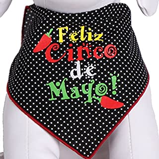 Tail Trends Cinco de Mayo Dog Bandanas for Medium to Large Sized Dogs - 100% Cotton