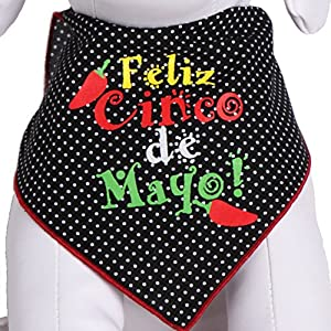 Tail Trends Cinco de Mayo Dog Bandanas for Medium to Large Sized Dogs – 100% Cotton