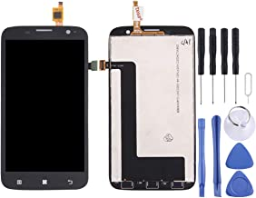 New LCD Screen and Digitizer Full Assembly for Lenovo A859(Black) Cxue (Color : Black)