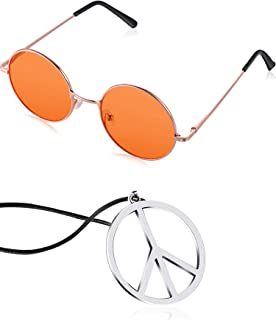 red hippie glasses