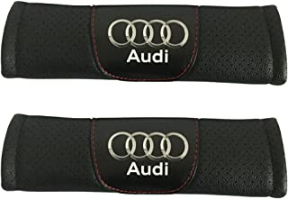 Jimat 2pcs Audi Logo Black Leather Car Seat Safety Belt Strap Covers Shoulder Pad Accessories Fit For Audi R8 RS3 RS5 RS7 S3 S4 S5 S6 S7 S8 SQ5 TT