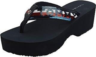 Tommy Hilfiger Sequins Wedge Womens Sandals