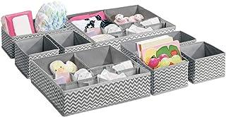 mDesign lot de 8 paniers de rangement pour chambre d'enfant – bacs de stockage en tissu pour objets de bébé – convient com...