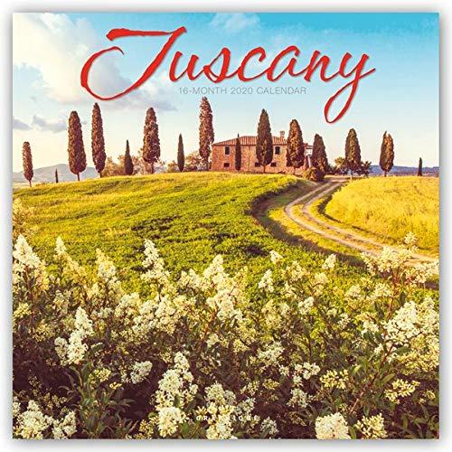 "Graphique Tuscany Wall Calendar, 16-Month 2020 Wall Calendar with Beautiful Italian Landmark Photographs, 3 Languages & Major Holidays, 2020 Calendar, 12"" x 12"""