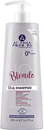 Alama Professional No-Yellow Daily Shampoo per mantenimento capelli biondi, grigi e decolorati - 500ml