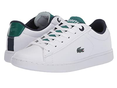 Lacoste Kids Carnaby Evo 120 2 SUC (Little Kid) (White/Green) Kid