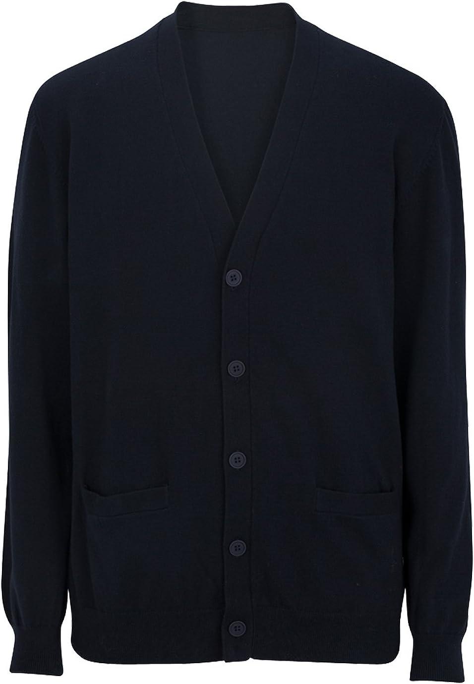 Ed Garments V-Neck Cotton Blend Cardigan-2Pockets
