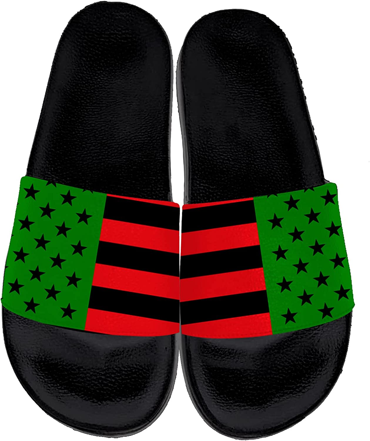 Red and Green American Flag Sandals Men for Large-scale Ranking TOP11 sale Comfort Women Custom