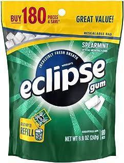 ECLIPSE Spearmint Sugarfree Chewing Gum, 180 piece bag