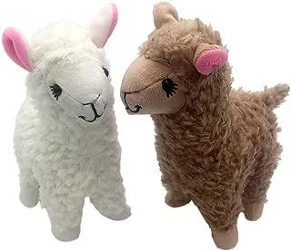 Maggift 2pcs 9inch Plush Stuffed Alpaca Doll Toys