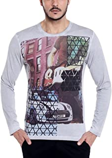 41d5996e8e09 Dream of Glory Inc. Men's Cotton Full Sleeve Round Neck Printed T-Shirts for