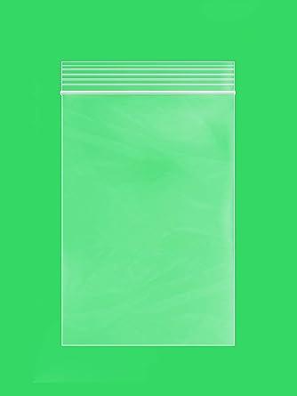 Ziplock Bags 5 x 8 2mil Clear Single Seal Top Reclosable Zipper Bags Pack of 100