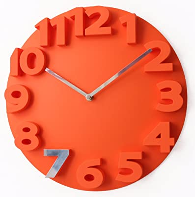 Imoerjia 3D is A Stylish Large Size Living Room Wall Clock Mute Wall Clock 35Cm,