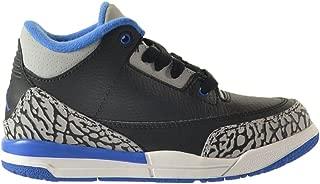 jordan retro 3 black sport blue wolf grey