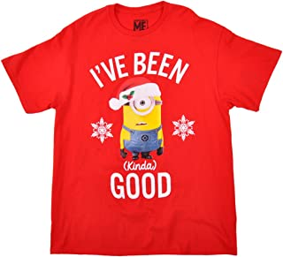 Minions Christmas T-Shirt I've Been Good Top Large