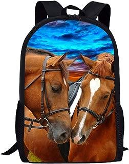 Dzulife Kids Backpack Elementary Boys Girls School Bags Shoulder Schoolbag Stylish Horse Bookbags