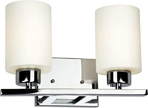 popular Forte Lighting 5186-02-05 Signature 2 Light 13 outlet online sale inch Chrome Vanity high quality Light Wall Light outlet online sale