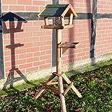 zooprinz stabiles und wetterfestes stehendes Vogelhaus für Wildvögel – Einfacher und schneller Aufbau – Aus nachhaltig angebautem FSC Holz – EIN schönes Zuhause für Vögel (Mit Ablage)