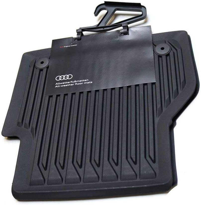 AUDI 4K0061511041 All-Weather Floor Black National products Rear Complete Free Shipping Mats 2X