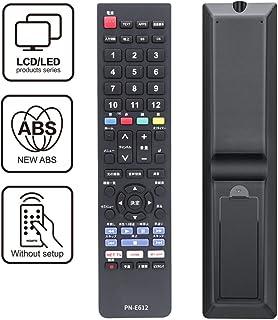 Sandoo テレビリモコン Panasonic パナソニックTV専用 パナソニックリモコン 感度抜群 テレビリモコン 汎用【設定不要すぐに使えるリモコン】 AVリモコン PN-E612